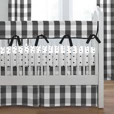 gray and white dots and stripes crib bedding black buffalo check crib bedding