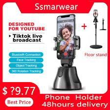360 ° Smart Gimbal Gesicht Tracking Kamera Stativ Auto Folgenden Selfie  Roboter Kameramann unterstützung Ios & Android Telefon für Vlog  live|Handheld Gimbal