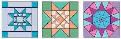 Evening Star - Blocks & Figure 4: These blocks are also called Evening Star Adamdwight.com