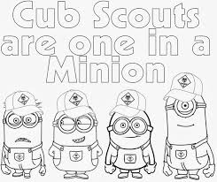 Small Picture Cub Scout Coloring Pages Cub Scout Minions PRIN Coloriage pour