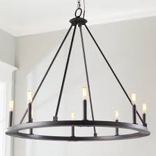 industrial home lighting. Minimalist Iron Ring Chandelier - 8 Light Industrial Home Lighting