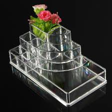 clear acrylic makeup cosmetic box organiser display storage case crea m