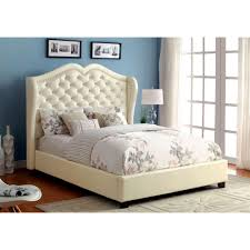 Monroe Bedroom Furniture Charming On Pertaining To Queen Size Bed Ivory  FinishCm7016Iv Q 14