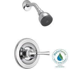 delta foundations single handle 1 spray shower faucet in chrome valve included