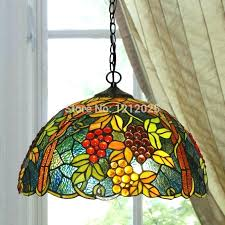 re style g pendant lamp dinning light bedroom kitchen stained glass lampshade vintage hanging lamps blue