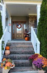 Fall Porch Decorating Simple Fall Decorating Ideas For The Front Porch Atta Girl Says