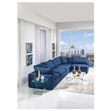 nube ii blue sectional sofa el dorado
