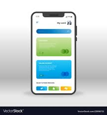 Design Of Screen Blue And Green Online Banking Ui Ux Gui Screen