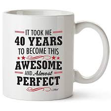 40th birthday gifts for women forty years old men gift mugs happy funny 40 mens womens