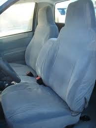 exact seat covers 2004 2016 chevy colorado gmc front row bench in gray