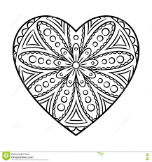 Small Picture Mandala Coloring Heart coloring page