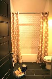 Long Shower Rod Best Double Shower Curtain Ideas On Double Shower