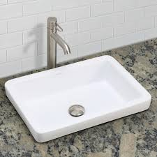 photo 6 of 7 the ambre semi recessed rectangular vitreous china sink is a jewel matching the meaning