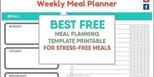 Monthly Dinner Planner Menu Planner Template Printable Best Free Meal Planning
