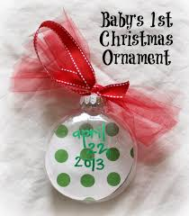 DIY Baby's First Christmas Footprint Ornament {For Under $2 ...