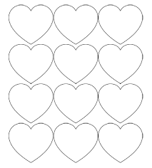 Heart Pattern Gorgeous Free Printable Heart Templates Large Medium Small Stencils To