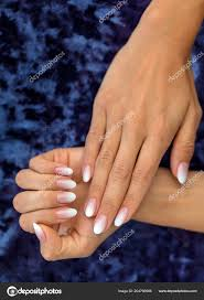 Beautiful Woman Nails Beautiful French Manicure Ombre Peach White