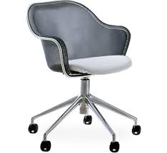 Iuta Swivel Task Chair With Upholstered Seat  Hive Modern