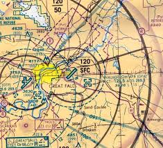 Great Falls Sectional Chart Abandoned Little Known Airfields Western Montana