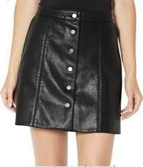 witchery a line leather skirt