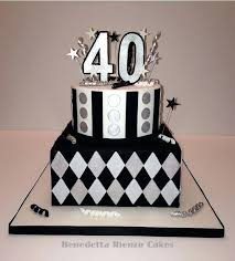 40th birthday man black and white birthday cake 40th birthday male es