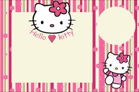 Hello Kitty Invitation Printable Invitation Hello Kitty Invitation Templates Free Download