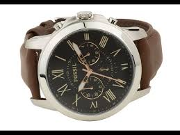 fs4813 fossil grant chronograph mens leather watch brown fs4813 fossil grant chronograph mens leather watch brown