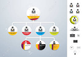 Modern Org Chart Vector Modern And Simple Organization Chart Template Vector