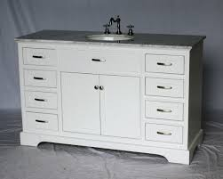 bathroom vanity single sink. 56 Inch Single Sink Bathroom Vanity Shaker Style White Color (56\ I