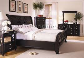 black upholstered sleigh bed. Attractive Black Sleigh Bed Queen With American Federal Bedroom Set Upholstered