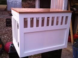 wood dog crate furniture plans