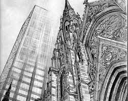 architectural drawings of skyscrapers. Drawn Skyscraper Realistic #4 Architectural Drawings Of Skyscrapers L