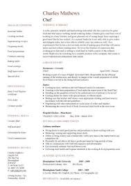 Chef Resume Templates