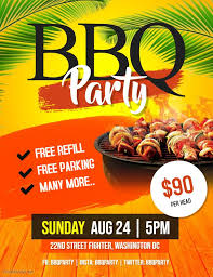 Create A Event Flyer Free Tropical Themed Bbq Fair Event Flyer Custom Template Party