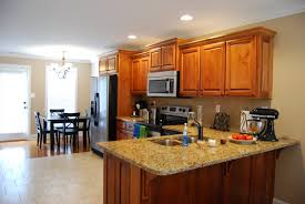 kitchen enchanting look and dining room open floor plan flooring ideas charming using shaped wall cabinets