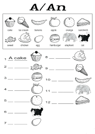 Free Worksheet For Kindergarten A And An Worksheets Free Printable ...