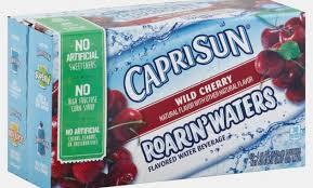 waters nutrition capri sun roarin waters wild cherry flavored water beverage