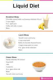 Liquid Diet Chart For Weight Loss Pin On Diets