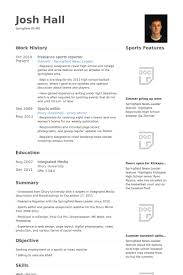 Freelance Sports Reporter Resume samples