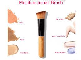 1 pcs high quality powder brush wooden handle multi function blush brush mask brush foundation makeup tool