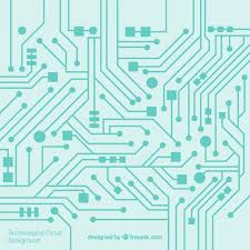 Circuit Background In Flat Design Vector Free Download