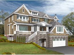 contemporary house plan front image 071s 0013 house planore