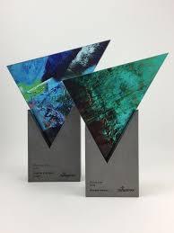 Bespoke Award Design Steel Glass Sculptural Award Bespoke Design With Custom