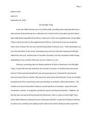 comm introduction to interpersonal communication u of a 3 pages do the right thing essay