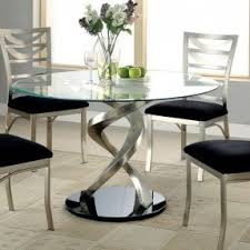 contemporary glass top dining room sets. furniture of america sculpture i contemporary glass top round dining room sets
