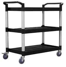 office trolley cart. Large 3 Level Plastic Service Trolley Office Cart O