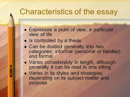 different types of writing the essay engc what is an essay an 3 characteristics