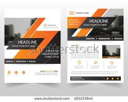 orange business brochure leaflet flyer annual report template design book cover layout design abstract