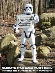 """the Fourth be with You"""" Party Menu ..."""