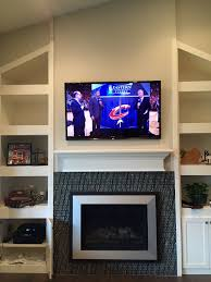 fireplace tv install